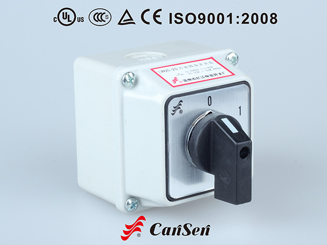 ROTARY CAM SWITCH, Main Switch LW26-20 0-1 4P IP65 Box Mount