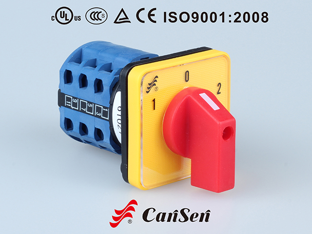 CHANGEOVER SWITCH LW26-20 1-0-2 3P Yellow-Red type