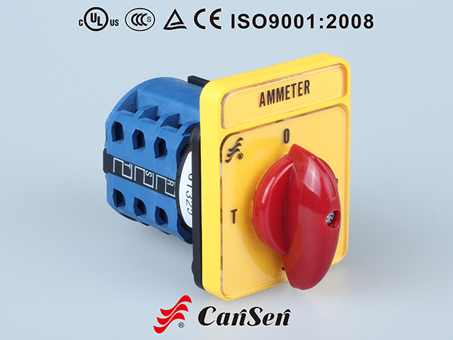 Ammeter Switch LW26-20 Yellow-Red Type LH3/3