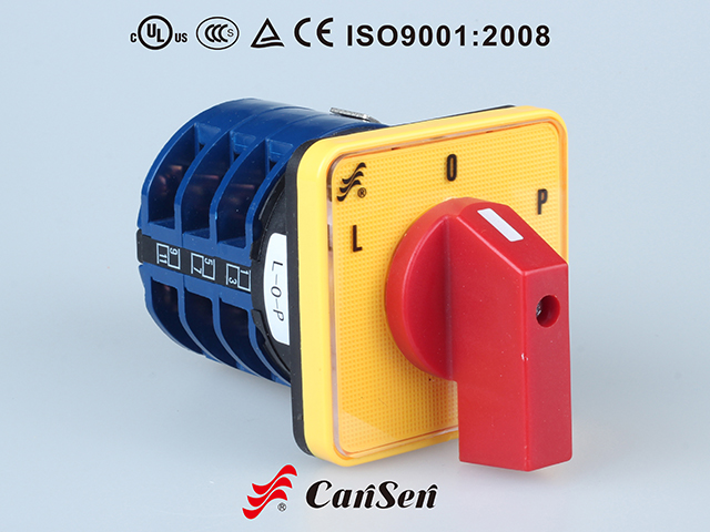 MOTOR SWITCH LW26-32 L-O-P Yellow-Red Type